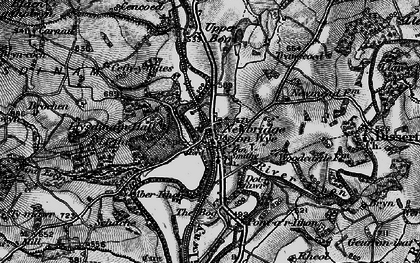 Old map of Aberithon in 1898