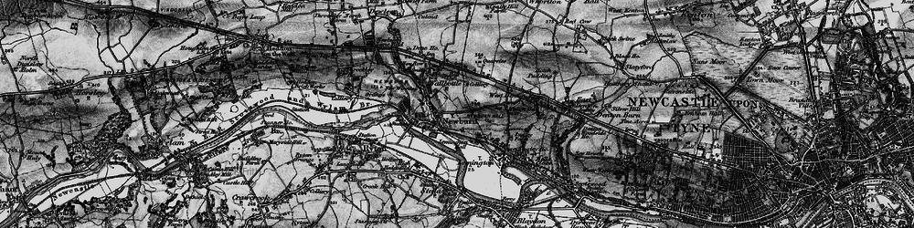 Old map of Newburn in 1898