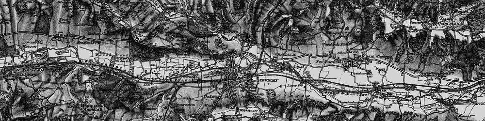 Old map of Newbury in 1895