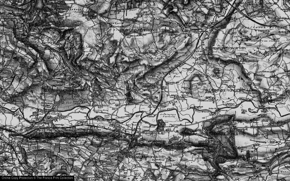 Old Map of Historic Map covering Bailey's Whins in 1898