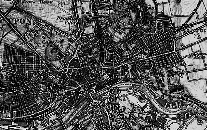 Old map of Newcastle upon Tyne in 1898