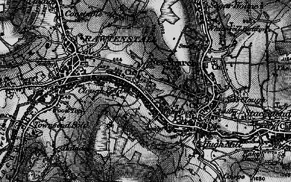 Old map of Newchurch in 1896