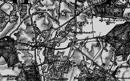 Old map of Yoxall Lodge in 1898