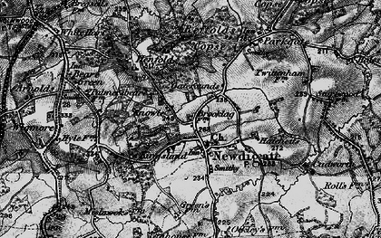 Old map of Newdigate in 1896