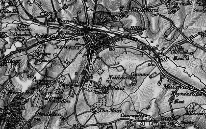 Old map of Newent in 1896