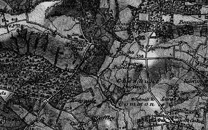 Old map of Newgate Street in 1896