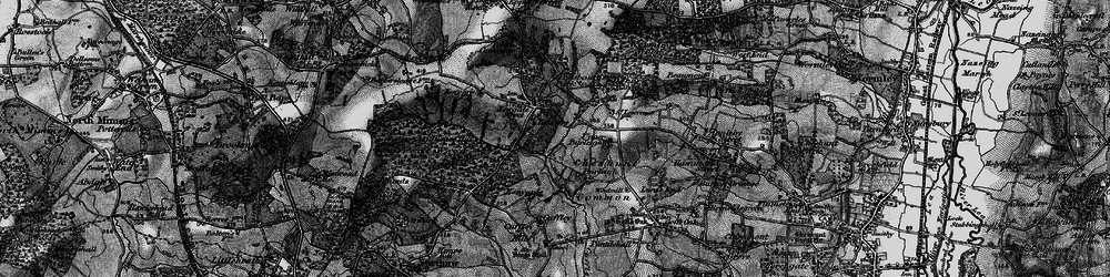 Old map of Wormley Wood in 1896