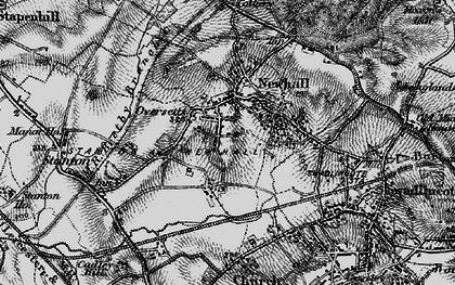 Old map of Newhall in 1898