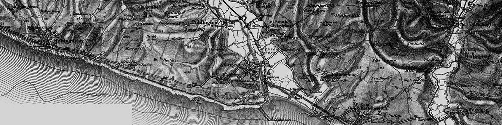 Old map of Newhaven in 1895
