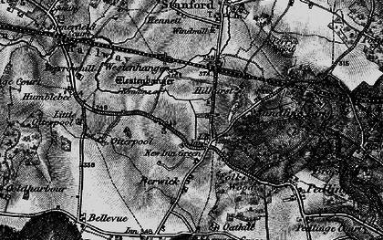 Old map of Westenhanger Castle in 1895