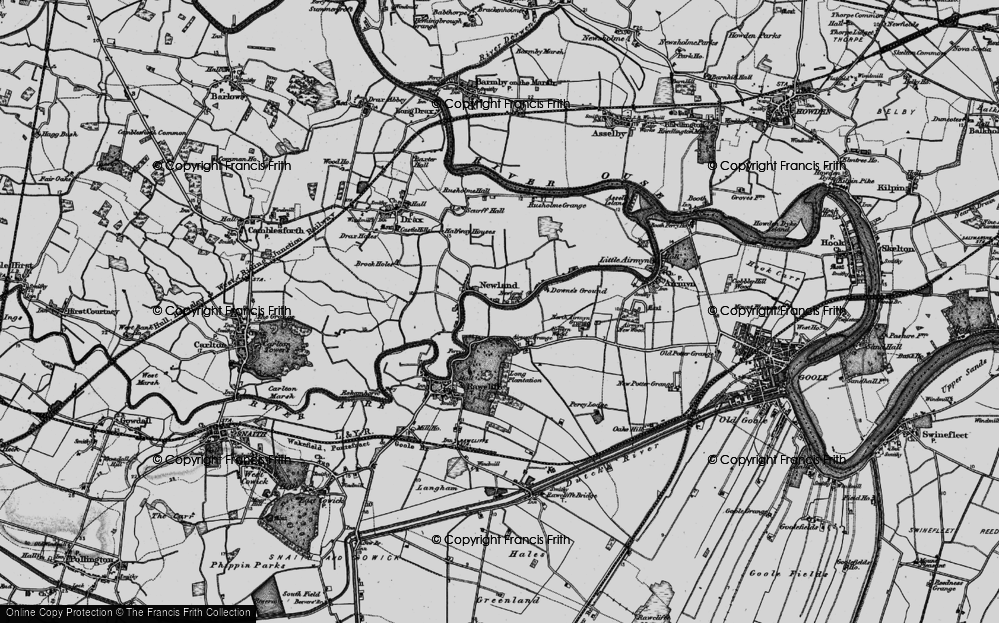 Old Map of Historic Map covering Airmyn Grange in 1895