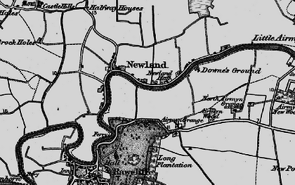 Old map of Airmyn Grange in 1895