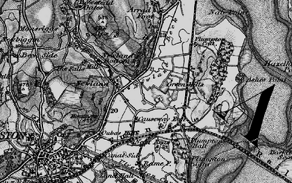 Old map of Ashes Point in 1897