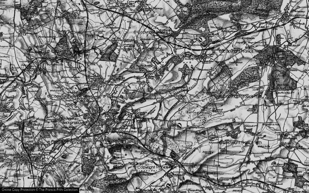 Old Map of Historic Map covering Badger Hill in 1899