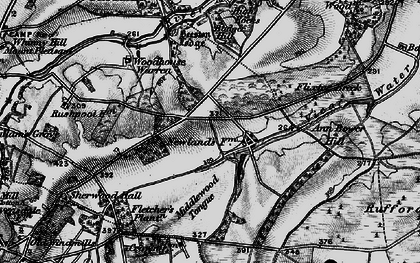 Old map of Badger Hill in 1899