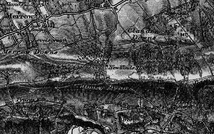 Old map of Albury Downs in 1896