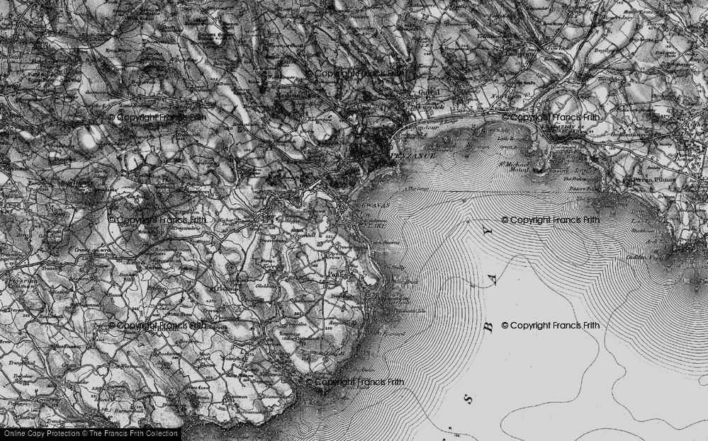 Old Map of Historic Map covering Tidal Observatory in 1895