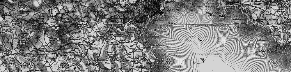 Old map of Newlyn in 1895