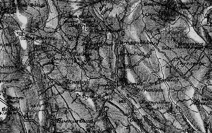 Old map of Newmill in 1896