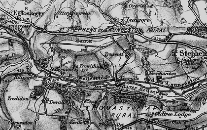 Old map of Newmills in 1895
