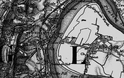 Old map of Newnham in 1896