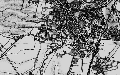 Old map of Newnham in 1898