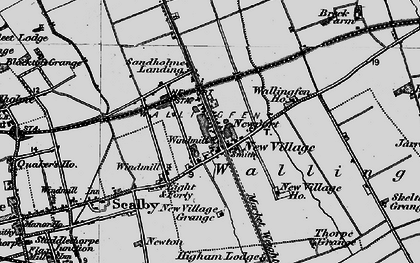 Old map of Newport in 1895
