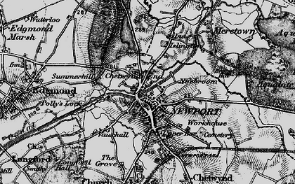 Old map of Newport in 1897