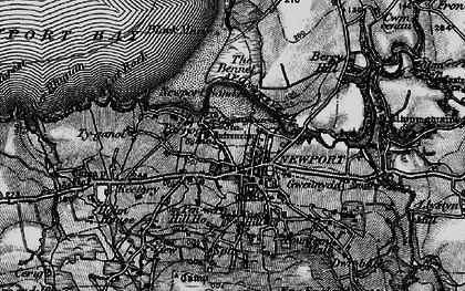 Old map of Afon Nyfer in 1898