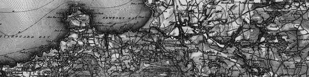 Old map of Newport in 1898
