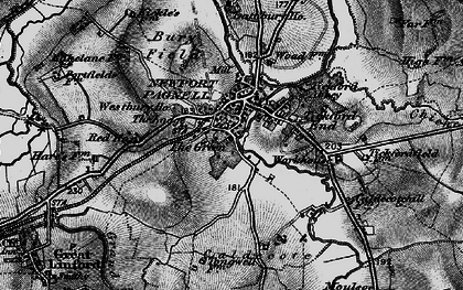 Old map of Newport Pagnell in 1896