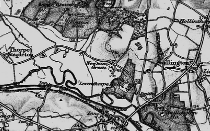 Old map of Leventhorpe Hall in 1896