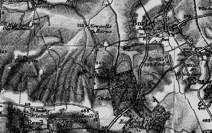 Old map of Whiteley Hill in 1896