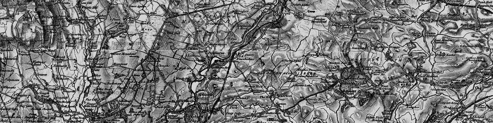 Old map of Adams in 1898