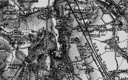 Old map of Annesley Hall in 1899