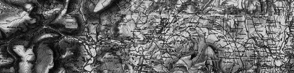 Old map of Newton-in-Bowland in 1896