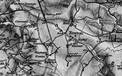 Old map of Newton in 1896