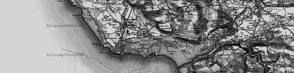 Old map of Newton in 1897