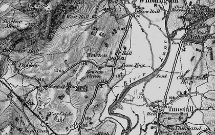 Old map of Newton in 1898