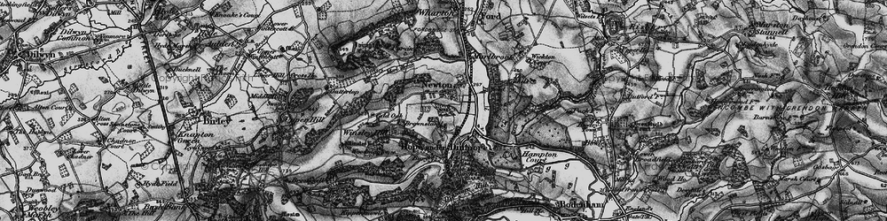 Old map of Wig Wood in 1898