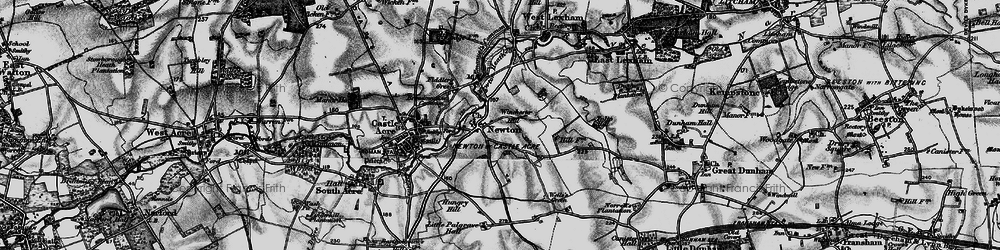Old map of Winchester Hill in 1898