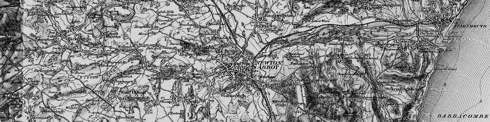 Old map of Newton Abbot in 1898