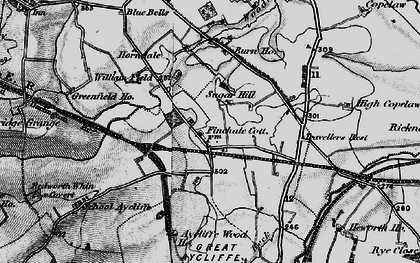Old map of Newton Aycliffe in 1897