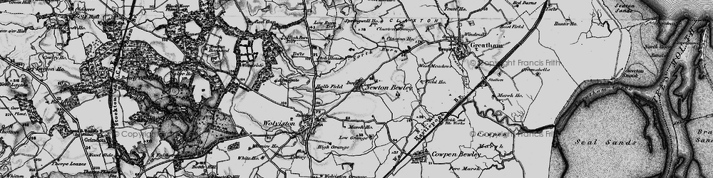 Old map of West Pastures in 1898