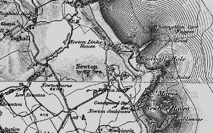 Old map of Whittingham Carr in 1897