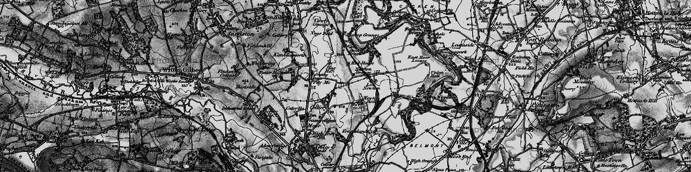 Old map of Woodwell Ho in 1898