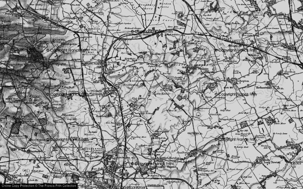 Old Map of Historic Map covering Lea Hall in 1898