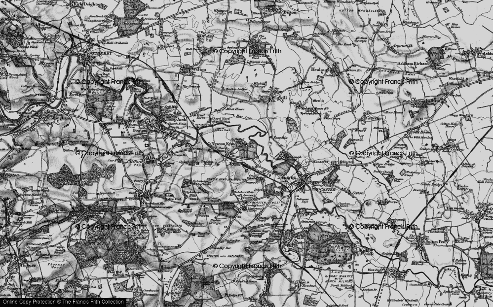 Old Map of Newton Kyme, 1898 in 1898