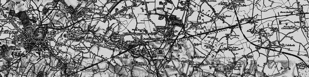Old map of Newton-le-Willows in 1896