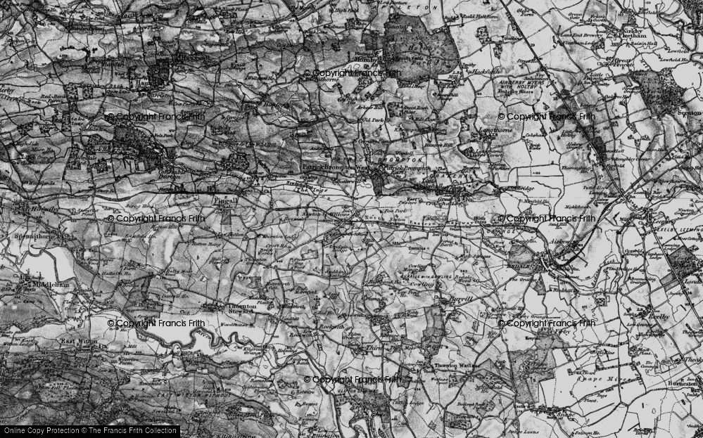 Old Map of Historic Map covering Aysgarth School in 1897